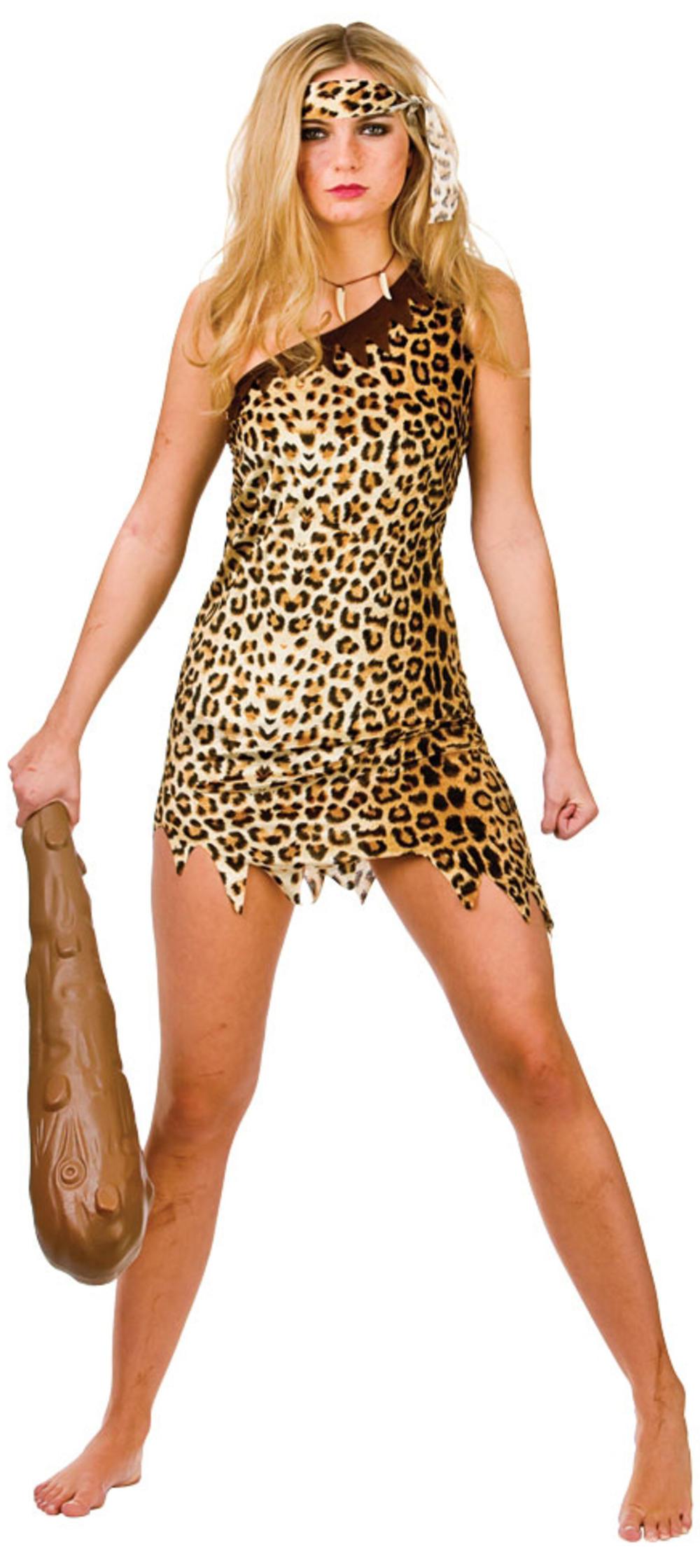 Cute Cavegirl Ladies Cave Woman Fancy Dress Womens Flintstones Adults Costume