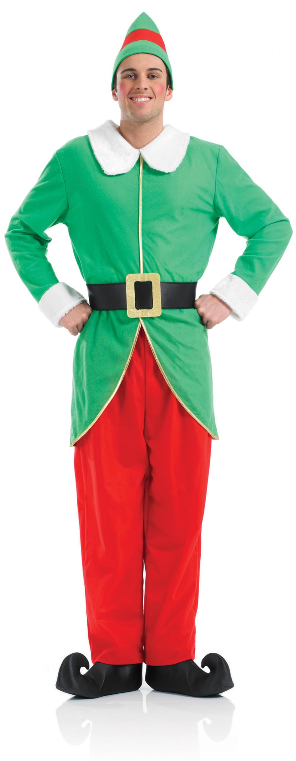Elf Mens Fancy Dress Christmas Santas Little Helper Festive Adults Costume New