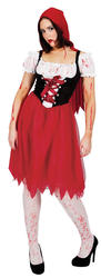 Blood Red Riding Hood Ladies Halloween Fancy Dress Fairytale Book Horror Costume