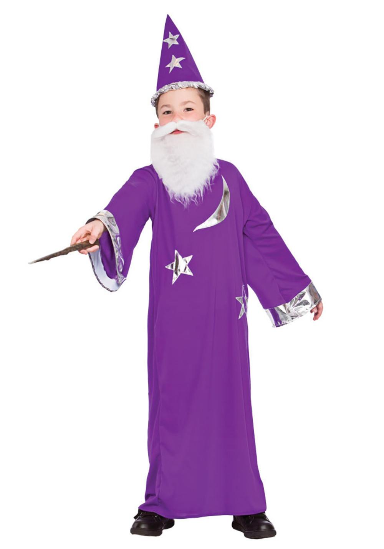 Wizard Boys Fancy Dress Fairytale Story Book Week Fantasy Kids Childs Costume