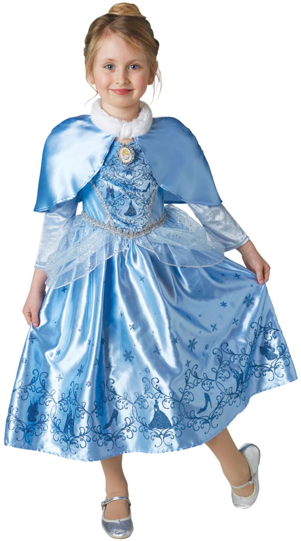Winter Cinderella Girls Fancy Dress Disney Princess Kids Fairy Tale Book Costume