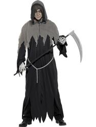Scary Grim Reaper Mens Fancy Dress Halloween Horror Gothic Film Adults Costume