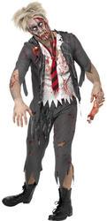 Zombie School Boy Halloween Horror Fancy Dress Mens Adult Costume Outfit