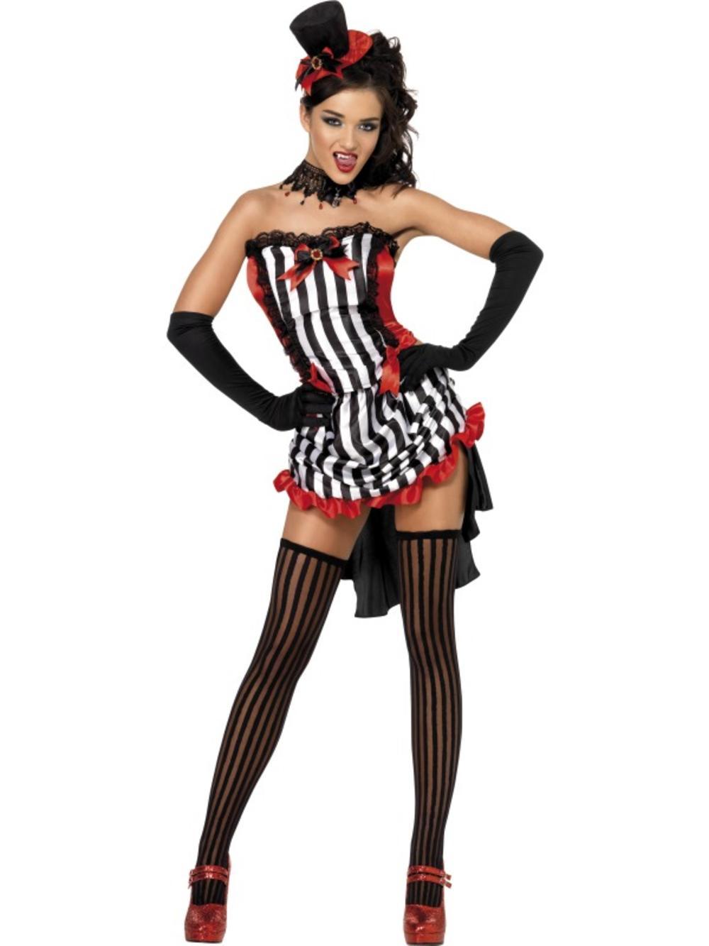 Fever Madame Vamp Ladies Burlesque Vampire Halloween Fancy Dress Costume UK 6-14