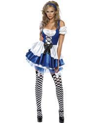 Sexy Alice Ladies Fancy Dress Wonderland Fairy Tale Adults Book Day Week Costume