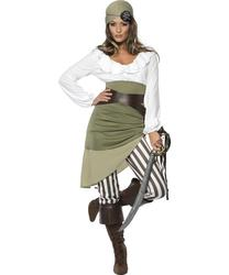 Shipmate Sweetie Pirate Ladies Fancy Dress Adult Outfit Costume UK 8-16 NEW