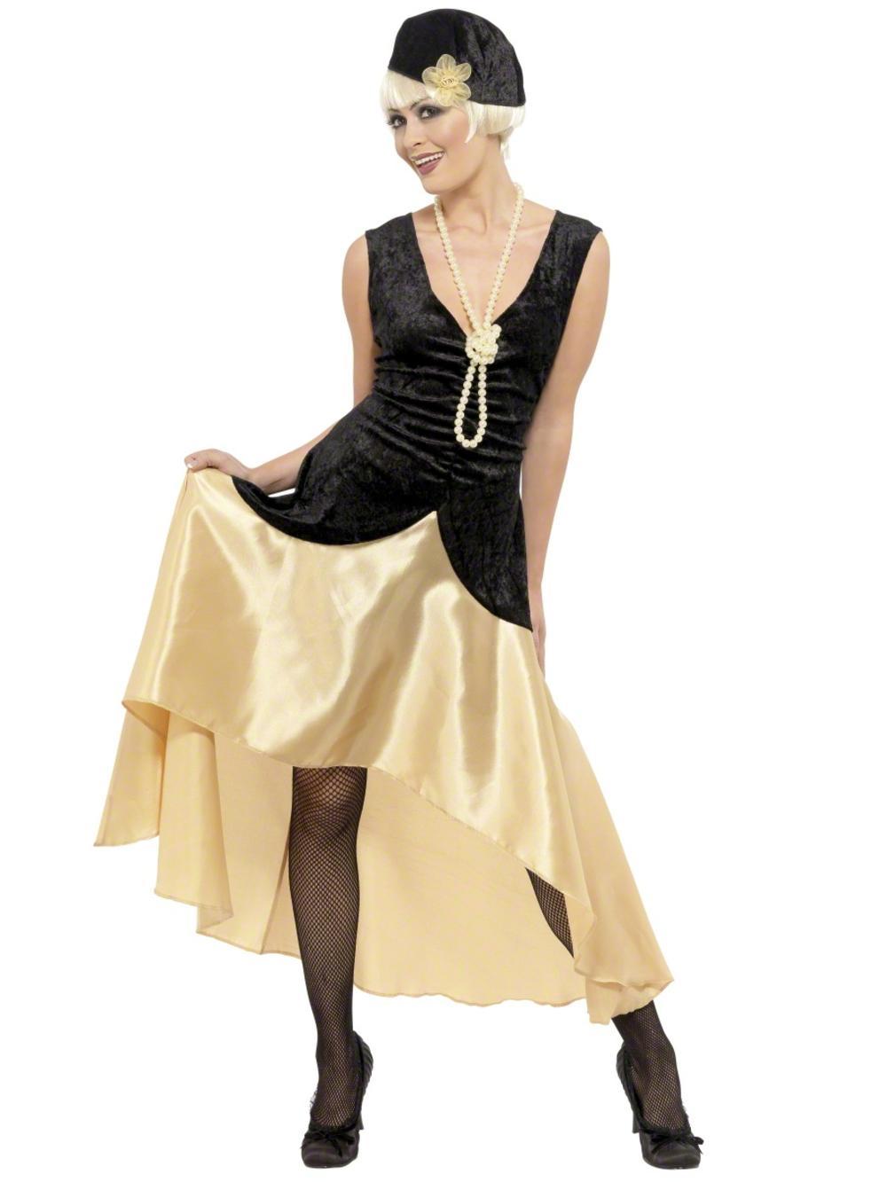 1920s Gatsby Girl Ladies Fancy Dress 20s Charleston Flapper Jazz Adults Costume