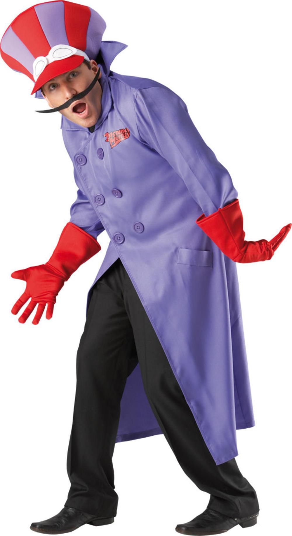 Deluxe Dick Dastardly Wackey Races Men's 60s Fancy Dress Cartoon Adult Costume