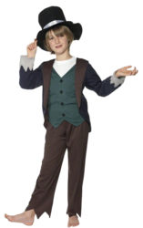 Victorian Poor Boys Fancy Dress World Book Day Week Dickens Kids Child Costume