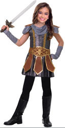Warrior Cutie Girls Fancy Dress Viking Medieval Knight Book Day Childs Costume