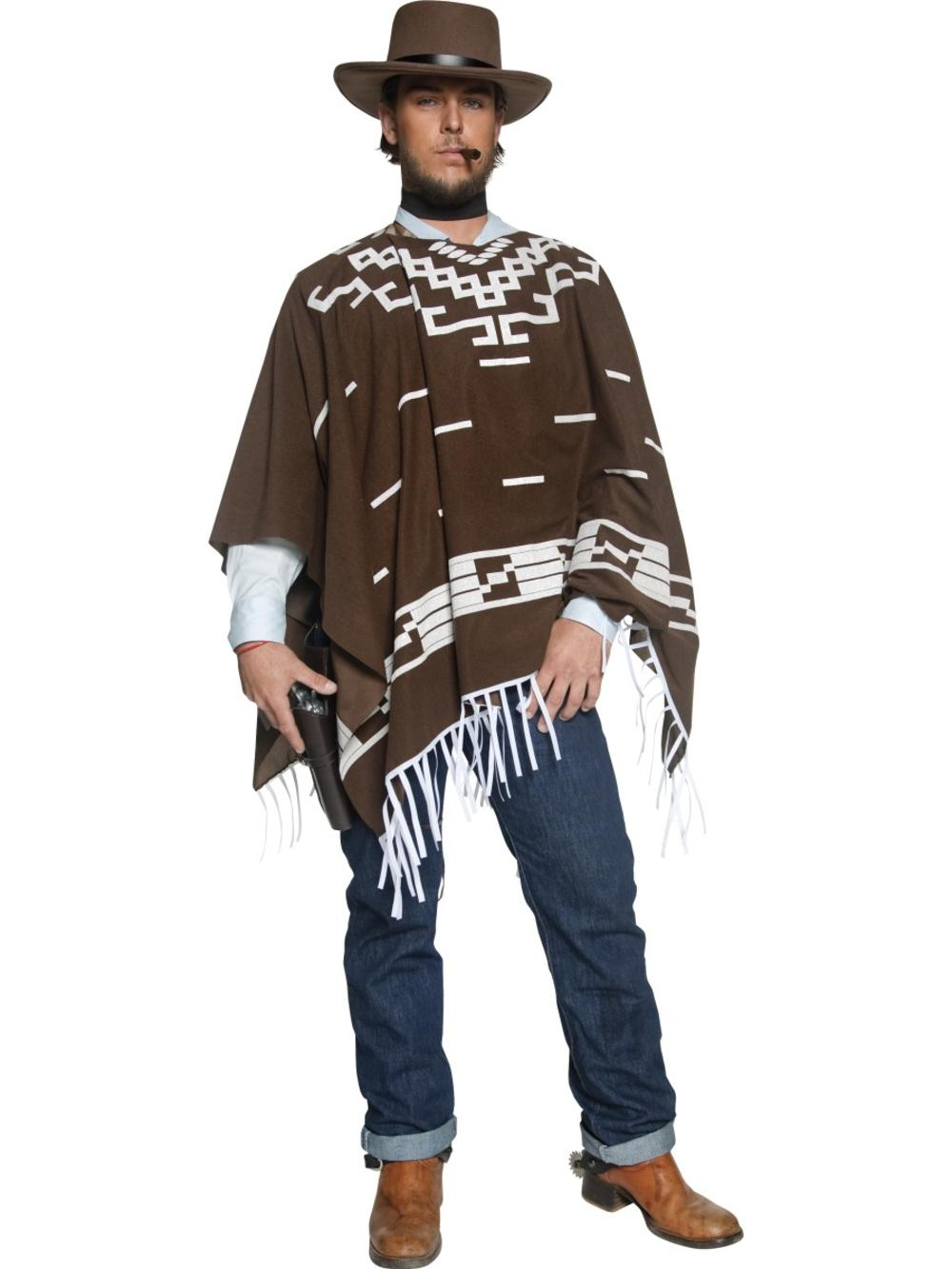 Wild Western Wandering Gunman Mens Fancy Dress Rodeo Cowboy Adult Costume Outfit