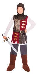 Valiant Knight Boys Fancy Dress Medieval Soldier Kids World Book Day Costume