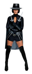 V for Vendetta Ladies Fancy Dress Evey Guy Fawkes Adults Halloween Costume + Hat