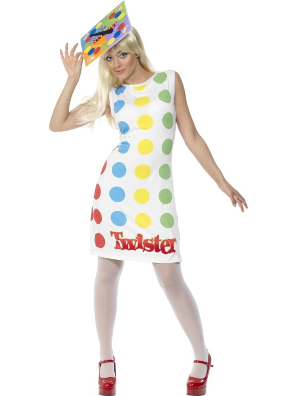 Twister Ladies Fancy Dress Fun Toy Board Game Adults Novelty Costume Outfit