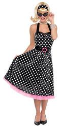 50s Polka Dot Rockabilly Ladies Fancy Dress 1950s Rock n Roll Adults Costume