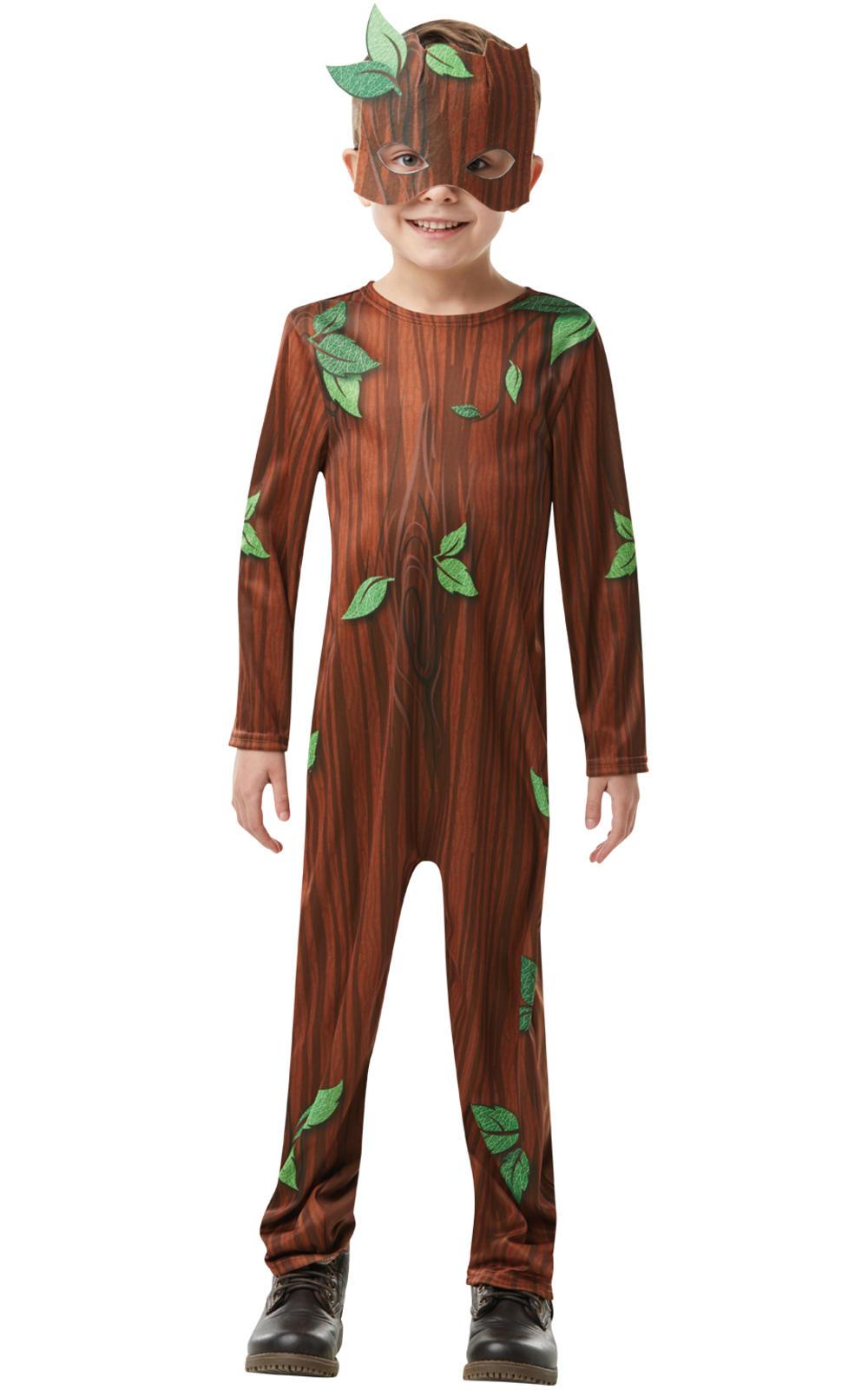 Twig Boy Kids Fancy Dress Oak Tree Boys Childs Fairy Tale Book Day Week Costume