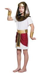 Pharaoh Tutankhamun Boys Fancy Dress Ancient Egyptian Emperor Kids Child Costume