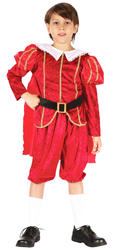 Tudor Prince Boys Fancy Dress Royal Medieval Kids Childs Book Day Costume Outfit