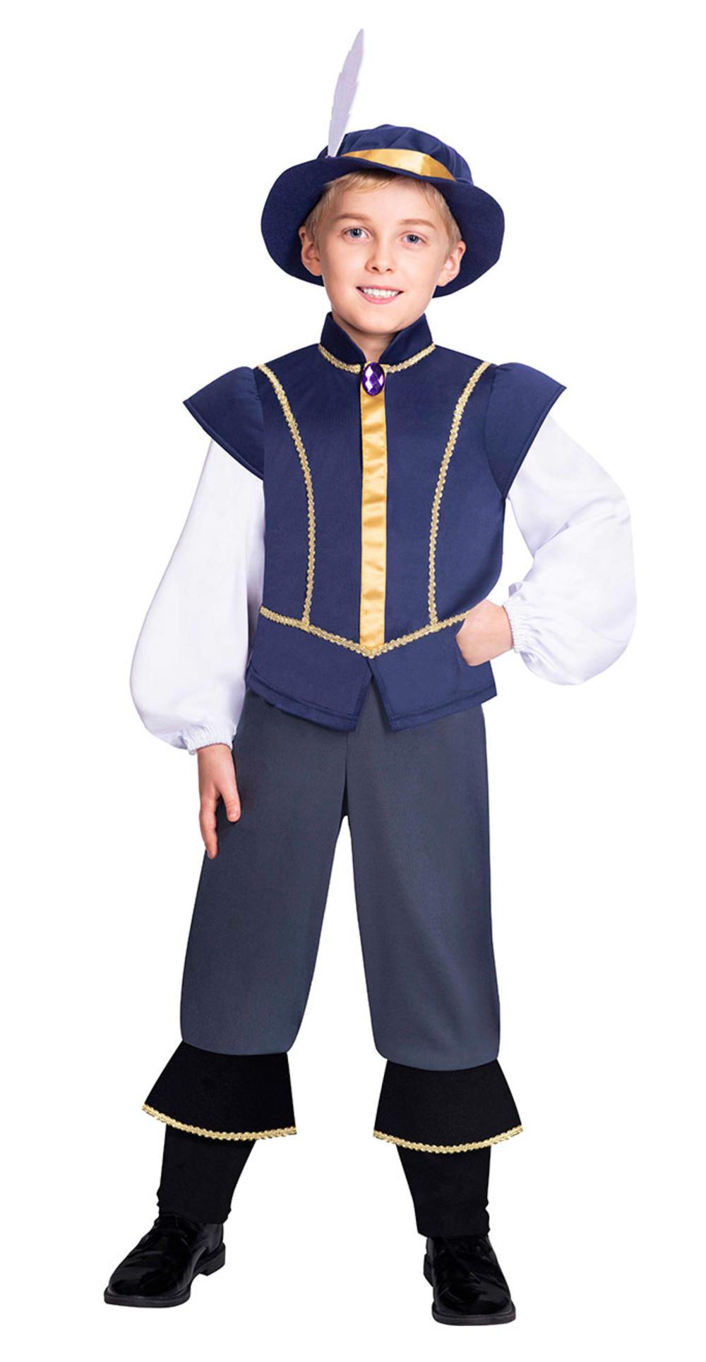 Tudor Prince Boys Fancy Dress Medieval Renaissance Kids World Book Day Costume