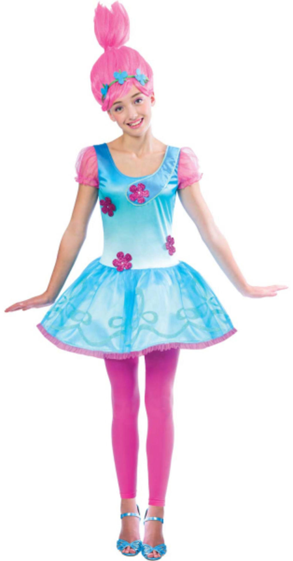 Trolls Princess Poppy Girls Teen Fancy Dress TV Film Cartoon Kids Childd Costume