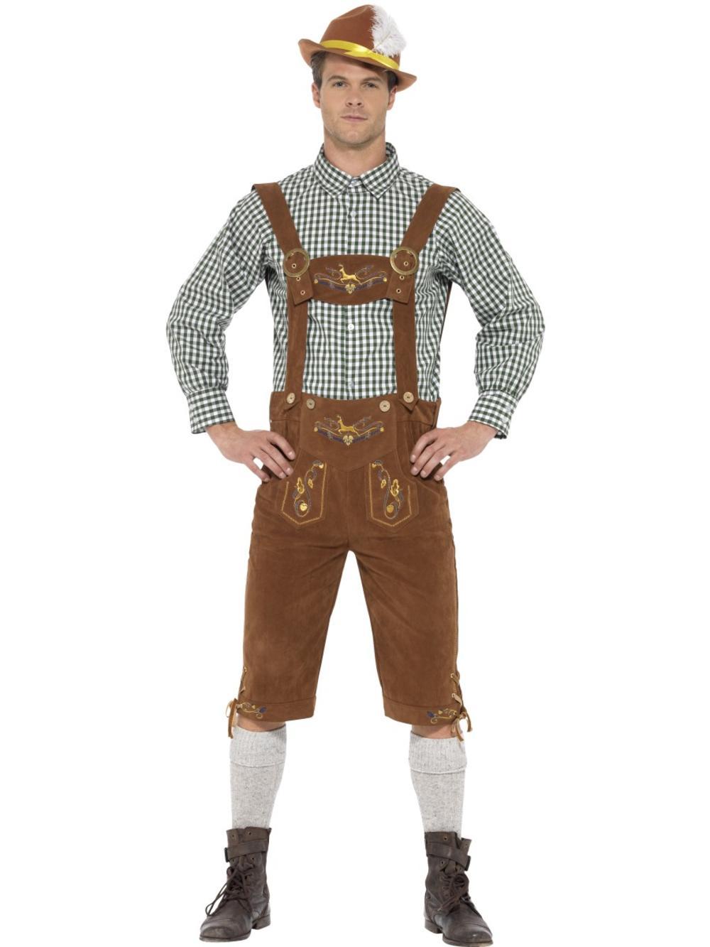 Traditional Bavarian Mens Fancy Dress German Beer Oktoberfest Adults Costume