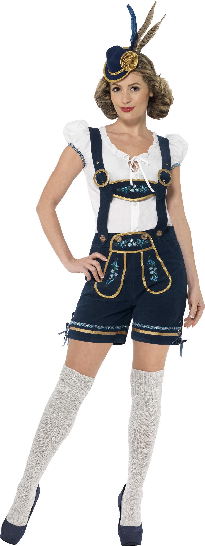Traditional Deluxe Bavarian Ladies Fancy Dress Oktoberfest Womens Adults Costume