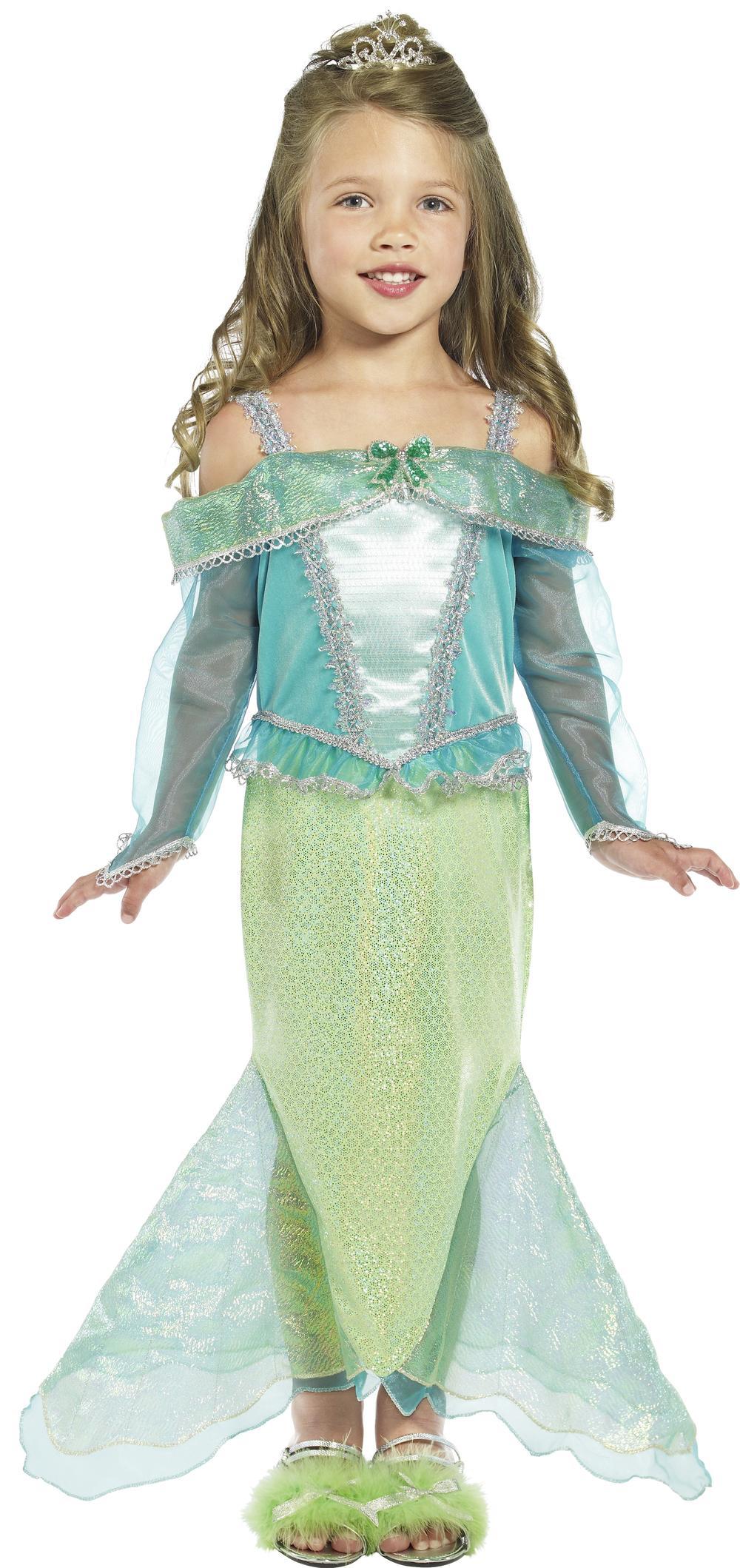 The Little Mermaid Princess Fancy Dress Girls Book Character Kids Childs Costume