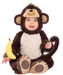 Monkey Toddlers Fancy Dress Cute Zoo Animal Boys Girls Kids Costume Outfit