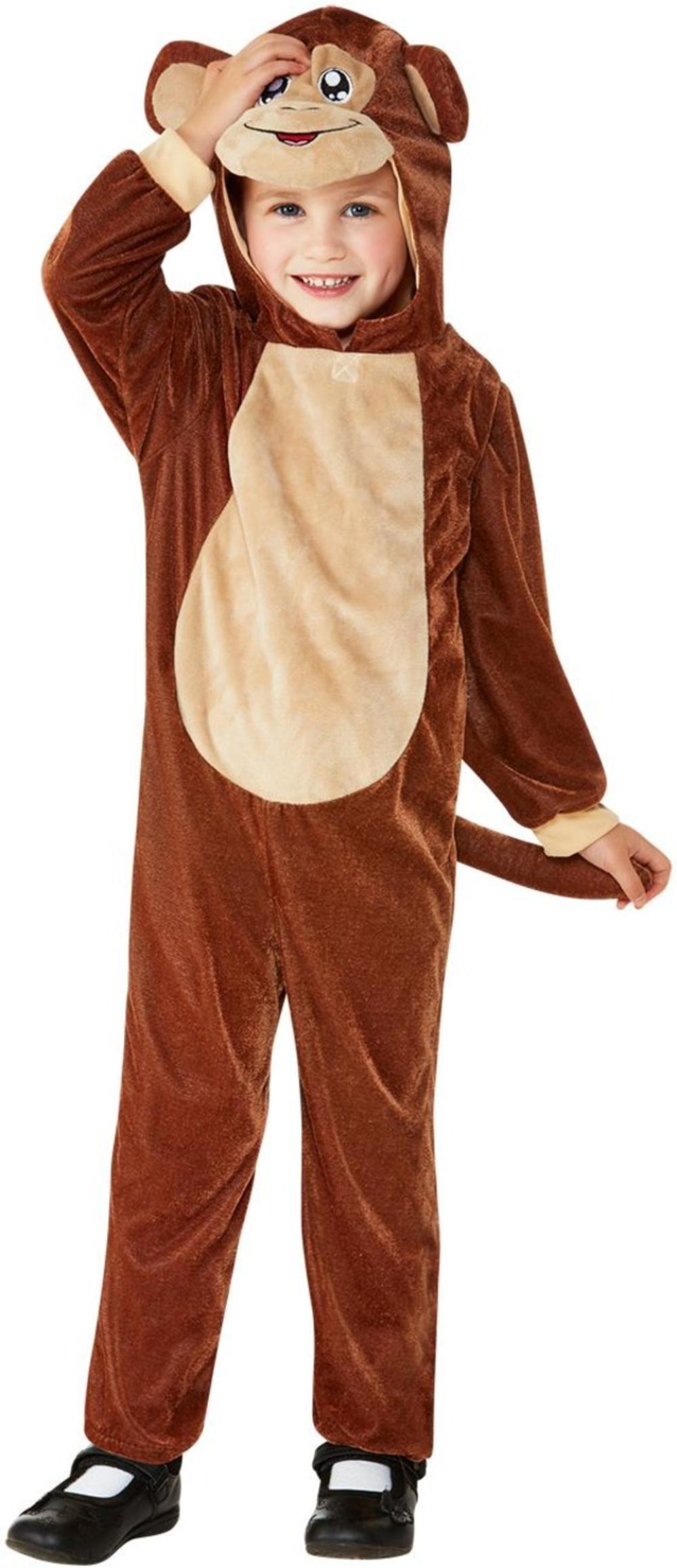 Monkey Kids Fancy Dress Cheeky Animal Boys Girls Toddler World Book Day Costume