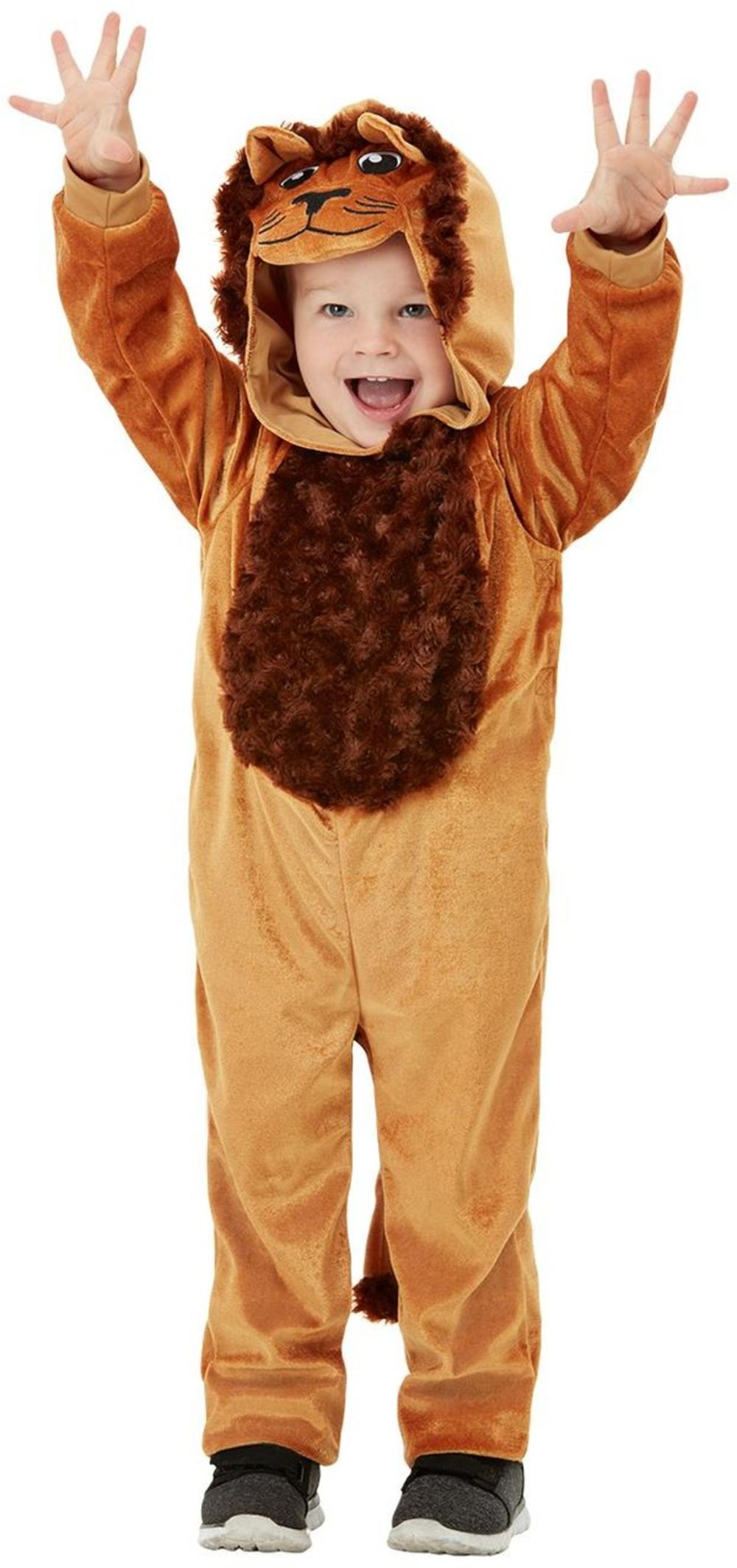 Lion Kids Fancy Dress Wild Cat Animal World Book Day Boys Girls Toddlers Costume