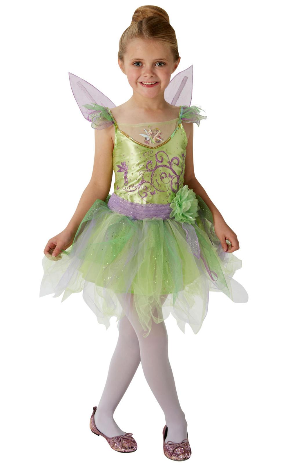 Deluxe Tinkerbell Girls Fancy Dress Disney Fairy Tale Book Day Child Kid Costume