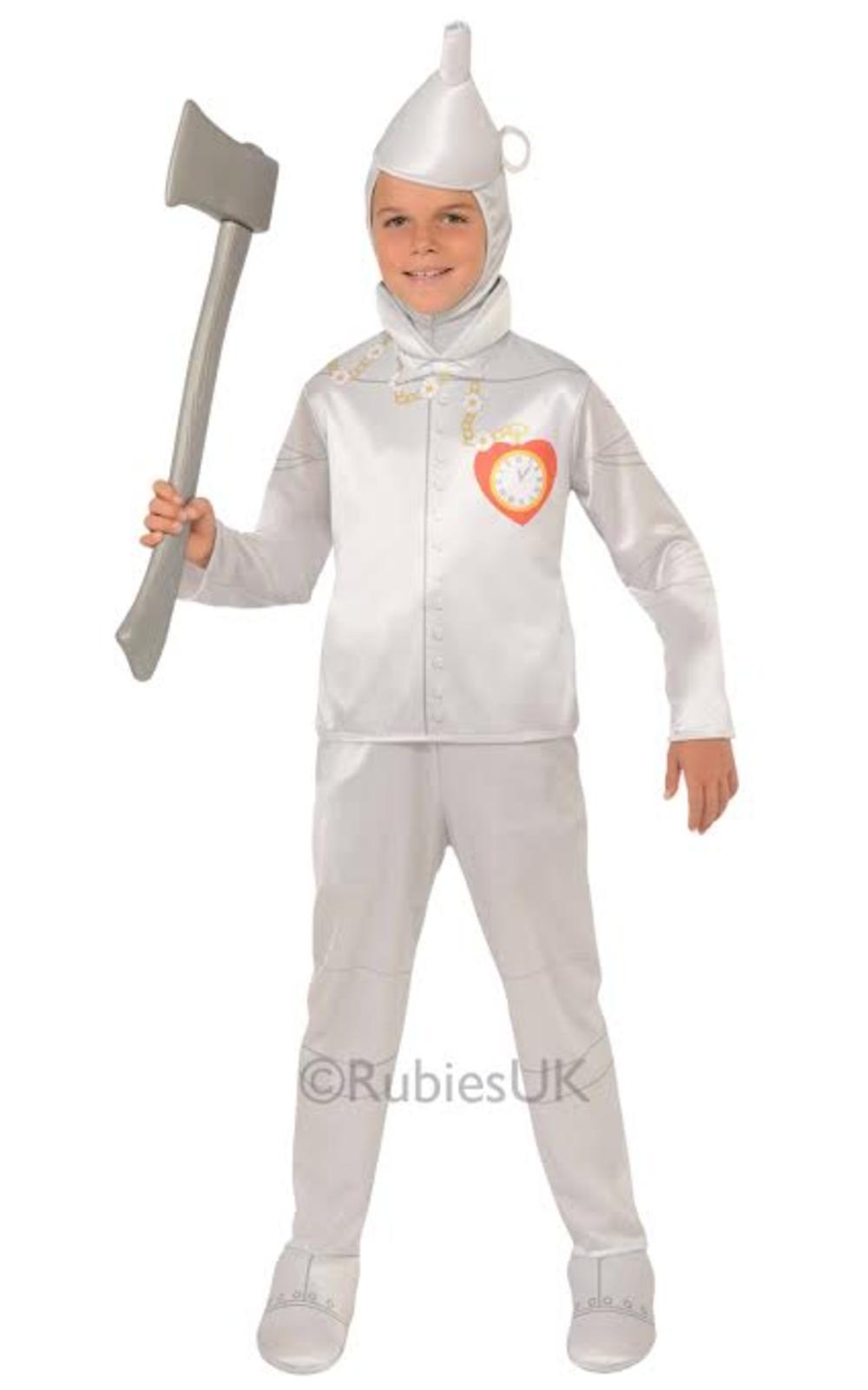 Wizard of Oz Tin Man Boys Fancy Dress Fairytale World Book Day Childs Costume