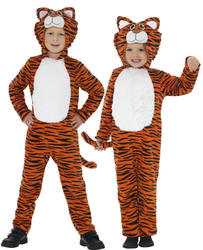 Tiger Kids Fancy Dress Wild Cat Jungle Animal Book Day Week Child Costume Outfit