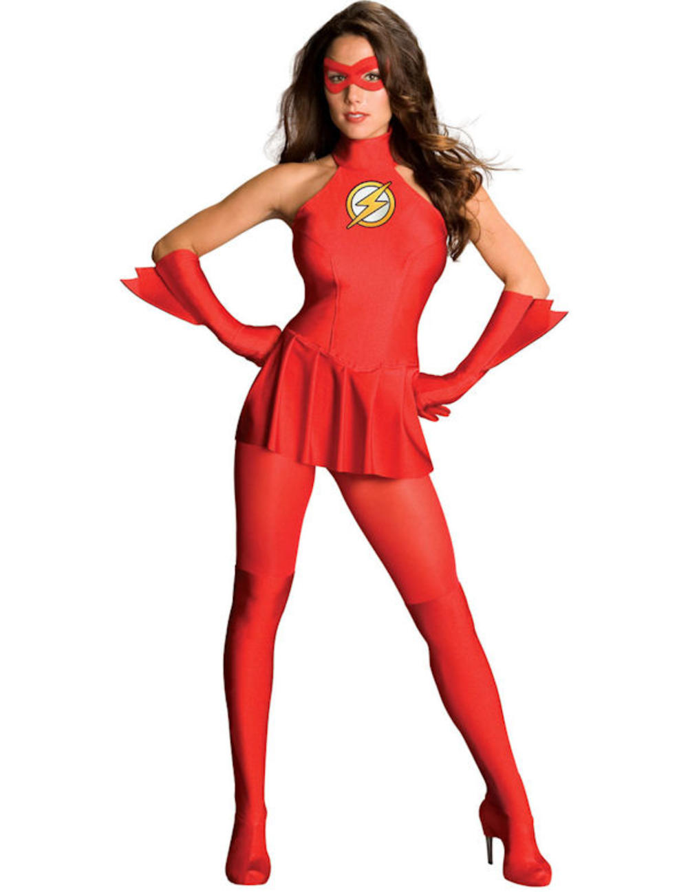 Sexy Flash Ladies Superhero Fancy Dress Womens Adults Party Costume Outfit