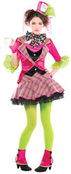 Mad Hatter Girls Fancy Dress Fairytale World Book Day Kids Childs Costume Outfit