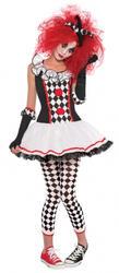 Harlequin Honey Age 10-16 Girls Halloween Fancy Dress Teens Jester Kids Costume