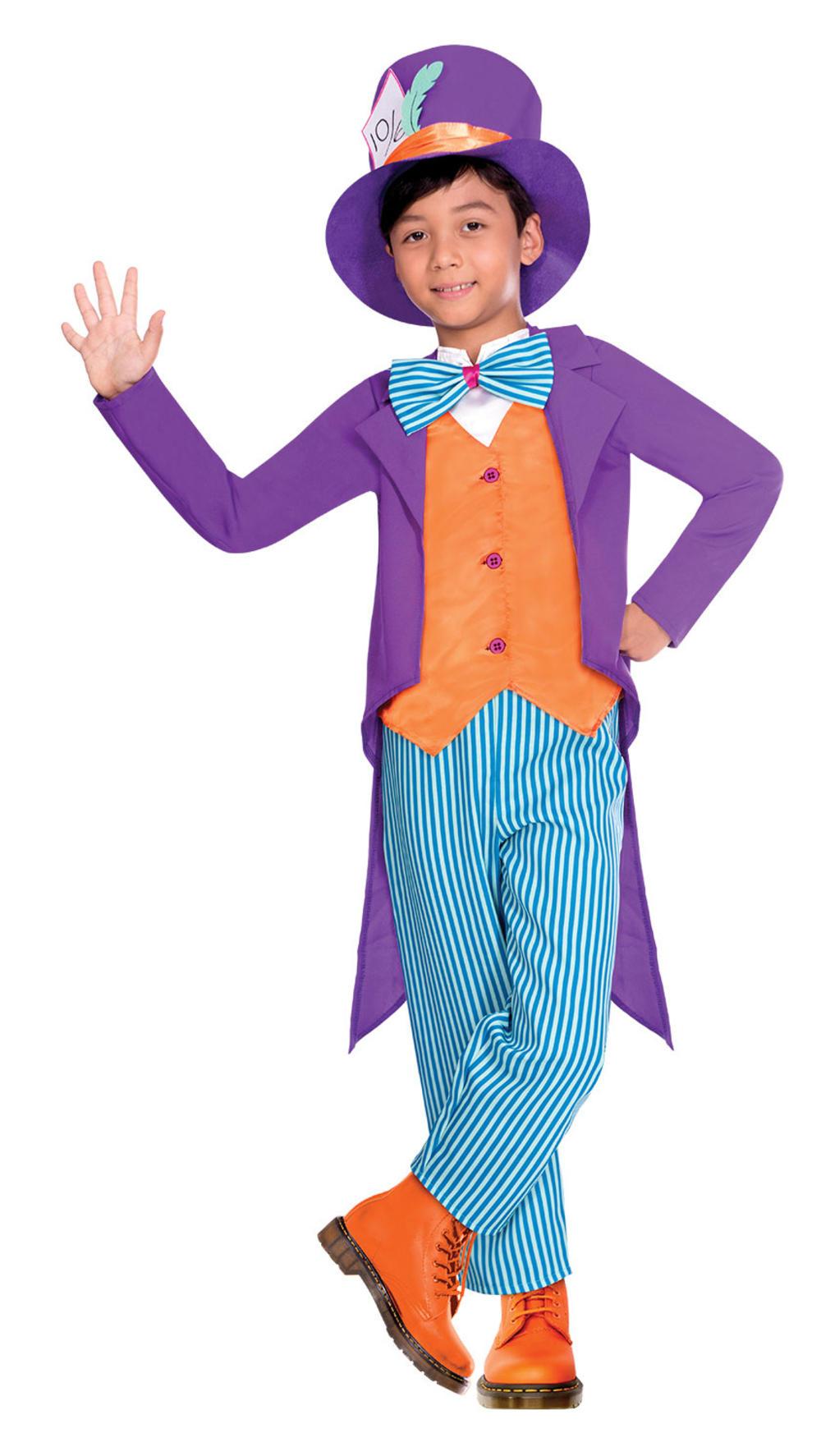 Tea Party Mad Hatter Boys Fancy Dress Fairytale Kids World Book Day Costume