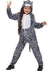 Tabby Cat Kids Fancy Dress Animal Kitten Book Day Week Boys Girls Childs Costume