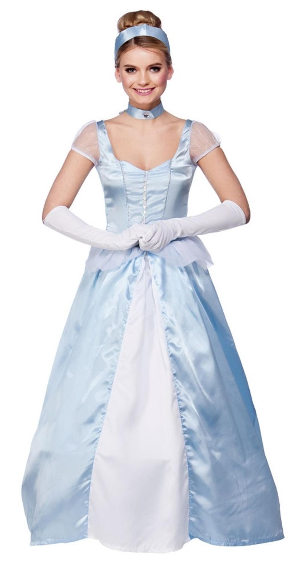 Sweet Cinders Ladies Fancy Dress Fairy Tale Princess Adults Book Day Costume
