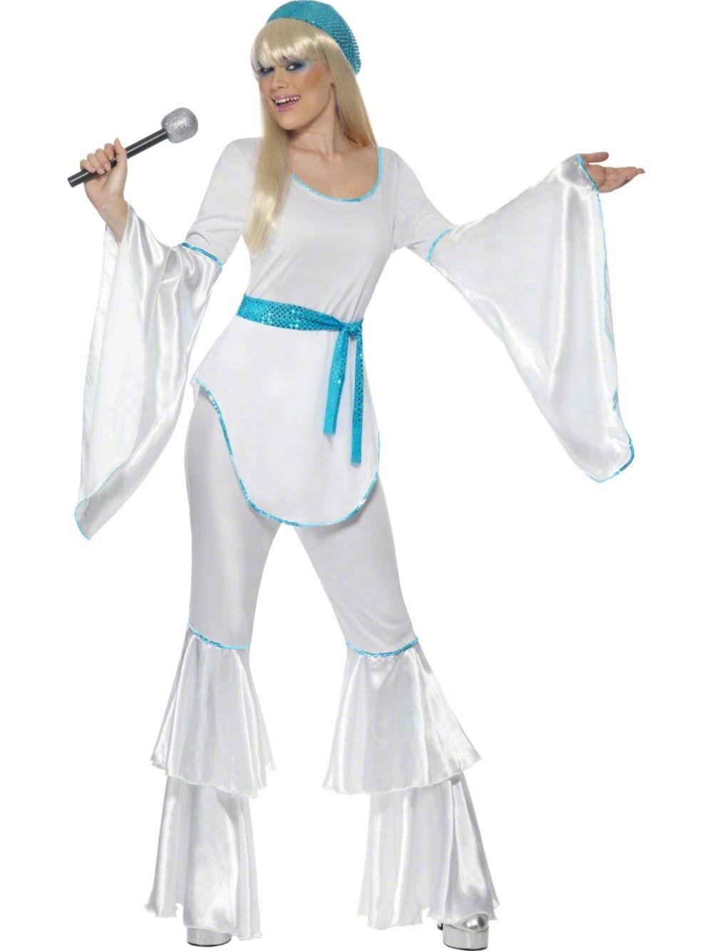 Super Trooper Fancy Dress Ladies 70s Pop Music Celebrity Adult Disco Costume