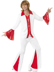 Super Trooper Mens 70s Fancy Dress Pop Music Celebrity Adult 1970s Disco Costume