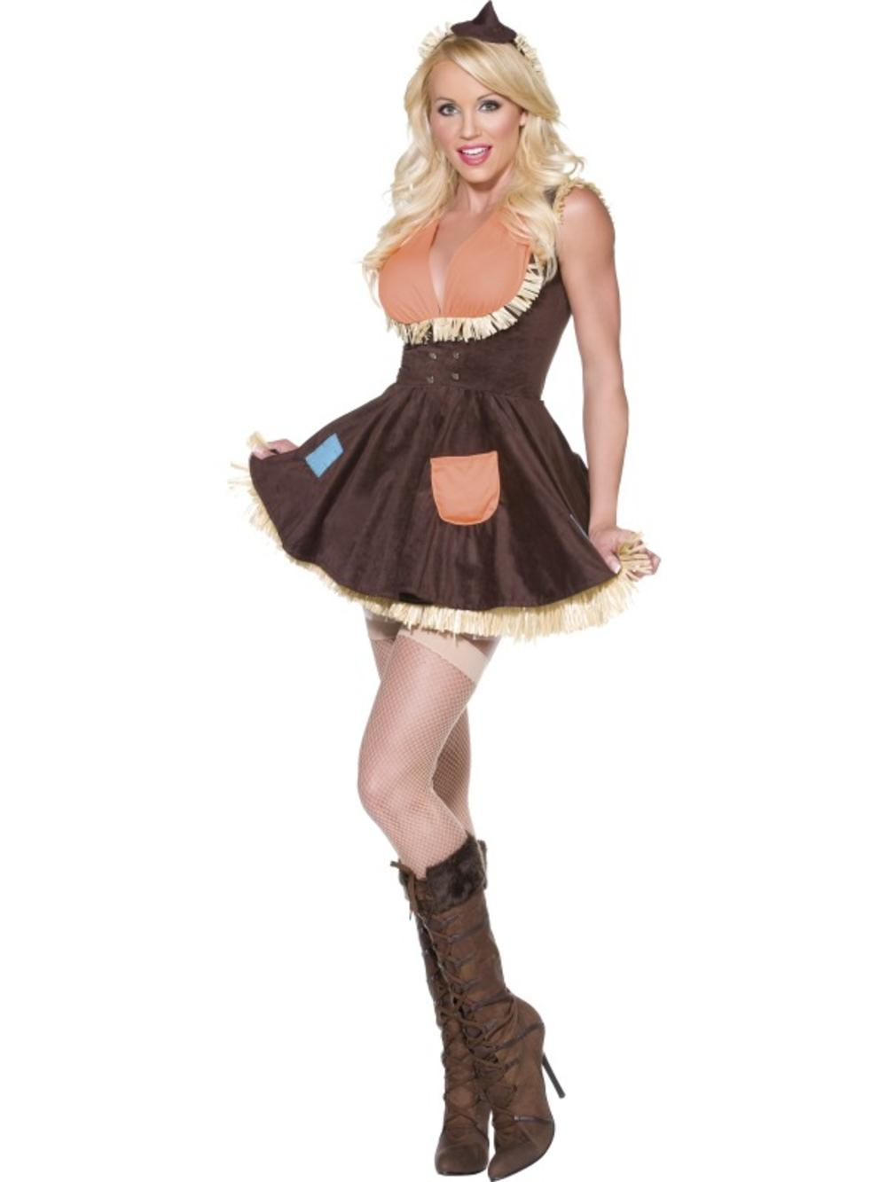 Sultry Scarecrow Ladies Fancy Dress Fairy Tale Adults Book Day Costume Outfit
