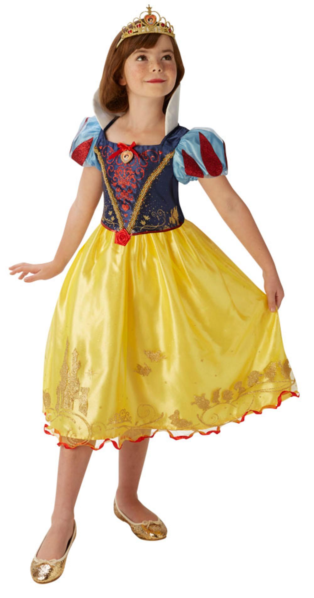 Snow White Girls Fancy Dress Fairy Tale Disney Princess Kids Book Day Costume