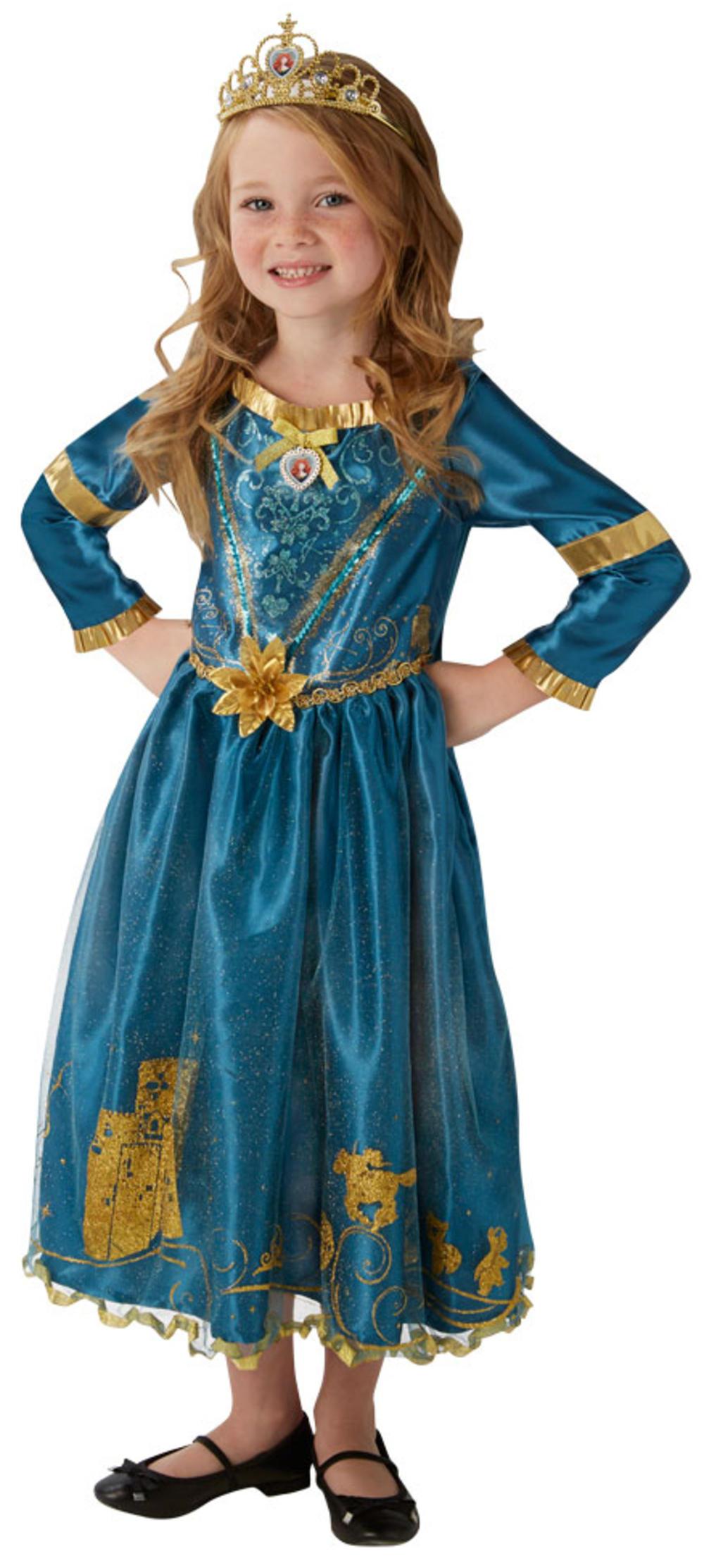 Merida Girls Fancy Dress Disney Princess Brave Book Day Week Childs Kids Costume