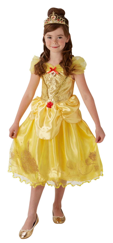 Belle Girls Fancy Dress Disney Princess Beauty Book Day Week Kids Childs Costume