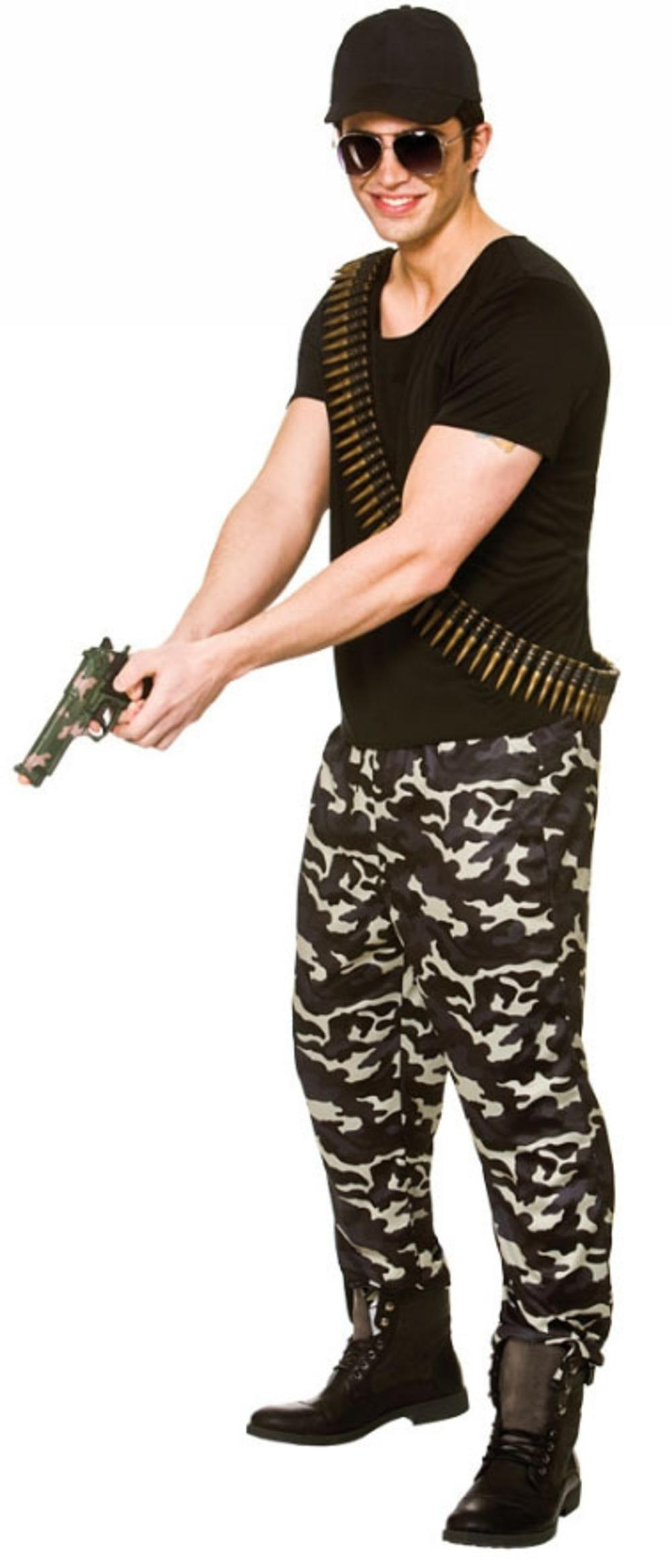Special Forces Mens Fancy Dress Camo Military Army Uniform Adults Costume Outfit