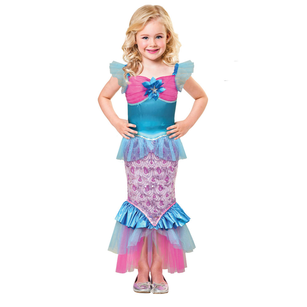 Sparkle of the Sea Mermaid Girls Fancy Dress World Book Day Childs Kids Costume