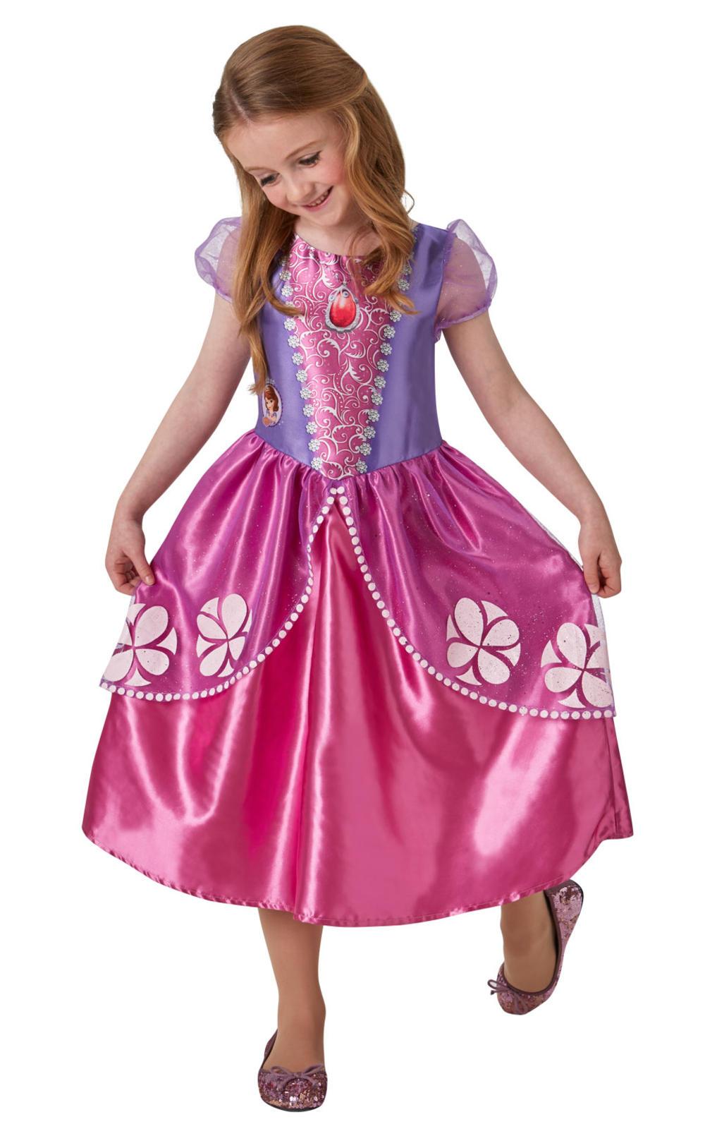 Sofia Kids Fancy Dress TV Sofia the First Girls Pink Princess Costume Outfit New
