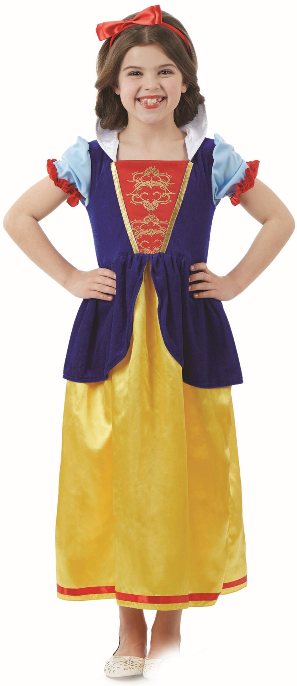 Snow White Girls Fancy Dress Fairy Tale Princess World Book Day Kids Costume