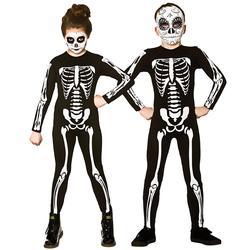 Skeleton Jumpsuit Kids Fancy Dress Halloween Skull Day of the Dead Child Costume